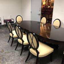 extension dining table and chairs barbara barry oval dining table 8 chairs for baker set of 9 stylish