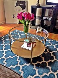 Gold Round Coffee Table Coffee Table Wonderful Gold And Glass Table Gold Drum Coffee