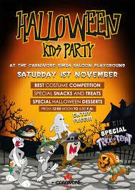 kids party halloween kids party nov 1 2014 carnivore
