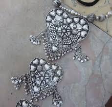 charm necklace choker images Boho fashion vintage heart charm bib necklace choker gypsy tribal jpg