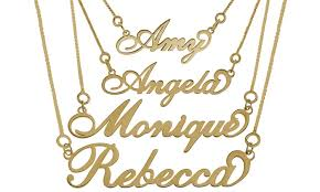 stainless steel name necklace images Carrie style name necklace groupon goods jpg
