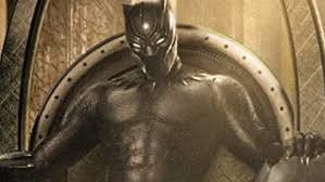 black panther poster recreated to include actual black panther