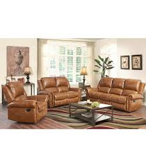 living room sets skyler 3 piece leather set cognac