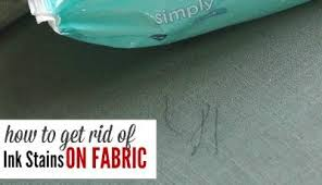 How To Get Ink Out Of Upholstery How To Get Rid Of Ink Stains On Fabric Passion For Savings