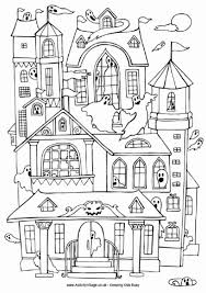 printable spooky house haunted house coloring page clipart digi sts color pages