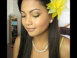 how to makeup for yellow dress youtube