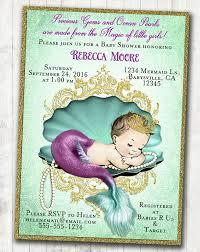 mermaid baby shower invitations mermaid baby shower invitations party xyz