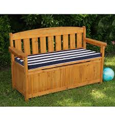 Storage Seating Bench Patio Storage Bench Treenovation