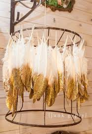 feather chandelier diy feather lshade chandelier from junk gypsies season 2 on