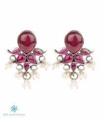 kempu earrings the puskara silver kempu earrings oxidised ko jewellery