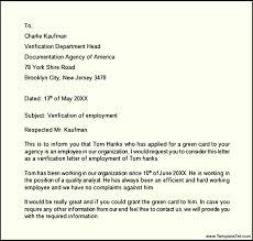 employment verification letter template templatezet