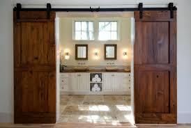 Distressed Barn Door by Sliding Barn Door For Bathroom Home Design Ideas