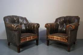 old leather armchairs fabulous pair of french antique leather armchairs 151608