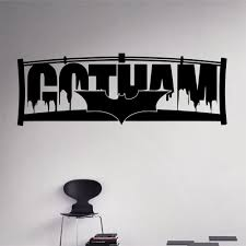 compare prices on gotham wall decal online shopping buy low price batman city wall decal gotham night city vinyl sticker superhero city home interior wall art murals
