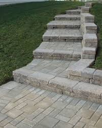Retaining Wall Stairs Design Creative Outdoor Stairs Options Using Allan Block Retaining Walls