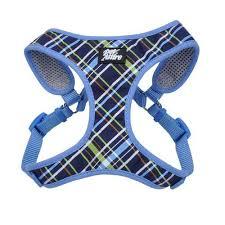 navy blue ribbon pet attire ribbon designer wrap dog harness navy blue plaid