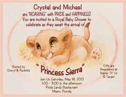 lion king baby shower invitations 2 lion king princess baby shower invite