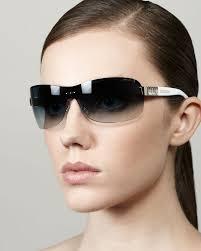 Flo Jimmy Choo Flo Gradient Shield Sunglasses Bluewhite In Black Lyst