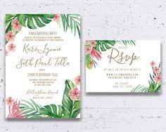 tropical wedding invitations palm leaf wedding invitation banana leaf invitation tropical