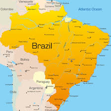 Map Showing Equator Map Of Brazil Description The Political Map Of Brazil Showing