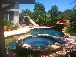 swimming pool jacuzzi with ouval swimming pool and circle stairs