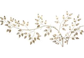 Gold Wall Decor by Flowing Leaves Gold Wall Decor Wall Decor Metal