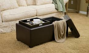 leather tray top ottoman up to 11 off on devonshire tray top ottoman groupon goods