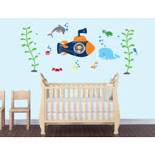 underwater murals ocean wall decals nautical decals for kids children s bedroom wall stickers under the sea wall decals for kids