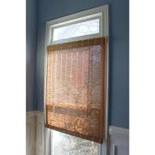 Roll Up Window Shades Home Depot by Hampton Bay 60 In W X 72 In L Nutmeg Horizontal Natural Woven