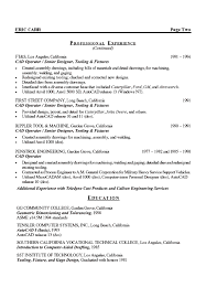 Electrical Engineer Resume Examples by Autocad Engineer Sample Resume 15 Mechanical Engineer Resume
