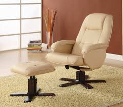 swivel recliner amazon com coaster swivel recliner chair with ottoman in ivory