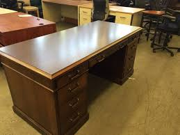 Office Desk Standing by Used Office Desks Executive Desk By Kimball Office Furniture At