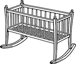 Black Baby Bed Free Vector Graphic Baby Bed Cradle Infant Rocker Free