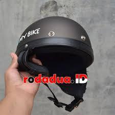 Helm Catok harga jual helm retro catok coklat doff motif i my bike