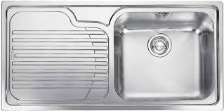 1 bowl kitchen sink franke galassia inset gax611 stainless steel sink single bowl l