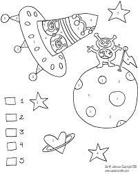 colouring pages color by number worksheets for preschool addition