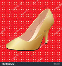 vector shoes womens gold classic boat stock vector 608352335