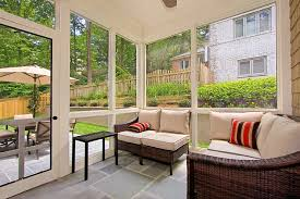 screened porch flooring houzz