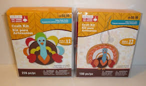 thanksgiving fall holiday craft lot turkey and turkey ornament