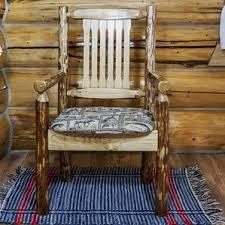 wooden captains chairs wayfair