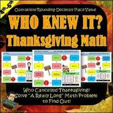 thanksgiving math fraction task cards for ells mainstream