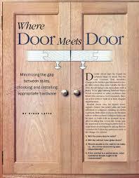 Cabinet Door Construction Installing Doors Woodarchivist