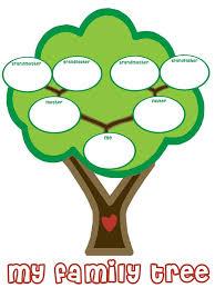 printable family tree for preschool