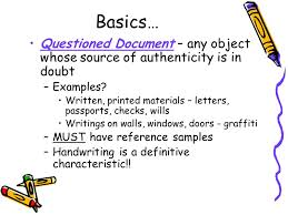 handwriting document and voice examination ppt video online