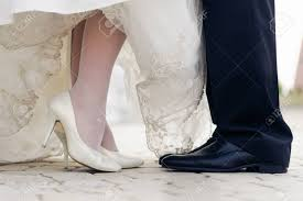 wedding shoes groom wedding shoes of and groom to standing stock