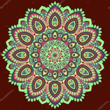 mandala multicolored east ethnic design oriental pattern round
