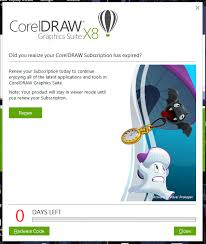corel draw x6 has switched to viewer mode what to do with coreldraw x8 purchased product key after e4 and