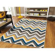 amazon com new fashion large 8x11 striped rug blue rugs clearance