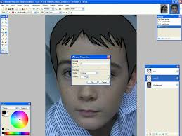 paint net tracing how to fill in the hair eyebrows and eyes