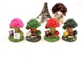 2017 artificial mini trees ornaments fairy garden miniatures toys